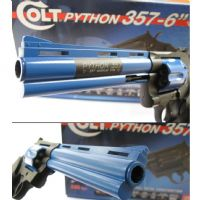 "Official Colt 357 Python 6"" Airsoft CO2 Full Metal Revolver Blue"